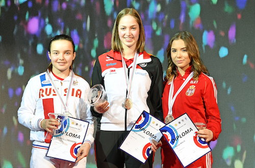 CdE Gyor 2018 - Podium Carabine 10m Junior Fille.jpg