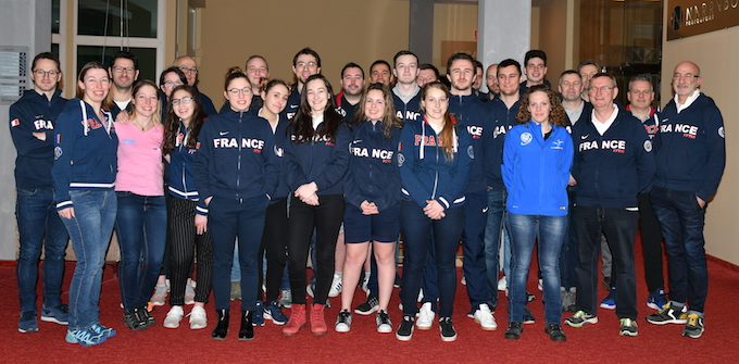 CdeE 10M 2018 CdE Gyor 2018 - La delegation francaise 7.JPG